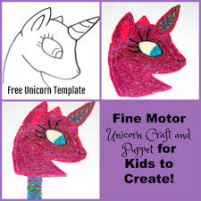 fine motor unicorn puppet craft for kids to create wikki stix