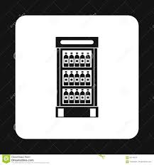 refrigerator showcase with bottles icon stock vector image 83194524