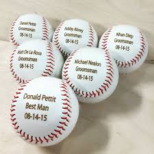 handmade personalized gifts handmade personalized gifts engraved baseball ring bearer gift