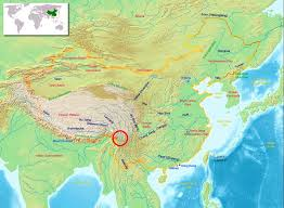 rivers in china map damming the three parallel rivers of tibet