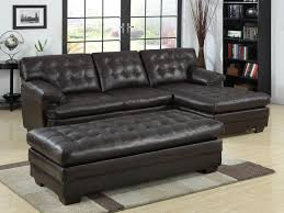 leather and microfiber sectional sofa brown leather couch with chaise kolyorove com