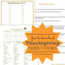 free thanksgiving planners the peaceful