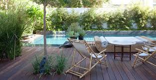 tigerwood decking deck asian with bamboo side chair outdoor daybed