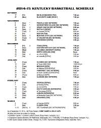 uk basketball schedule on tv kentucky finalizes schedule with remaining tv and start times