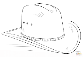 cowboy boot coloring page for hat coloring page eson me