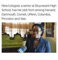 High School Senior Meme - nina uziogwe a senior at stuyvesant high school has her pick from