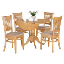 Drop Leaf Oak Table Oak Drop Leaf Table And 4 Dinette Chairs 5 Dining Set Free