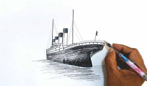 how to draw the titanic youtube