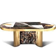 half moon dining table half moon dining table marble with brass bohinc studio