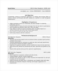 Resume Template For Bartender Bartender Resume Template Outstanding Details You Must Put