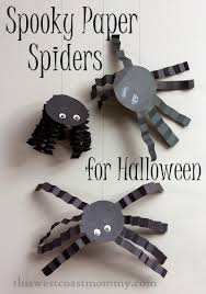 Spooky Halloween Crafts Halloween Craft Spooky Paper Spiders This West Coast Mommy