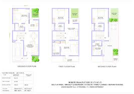 ajnara london square villa floor plan sector 22 a yamuna