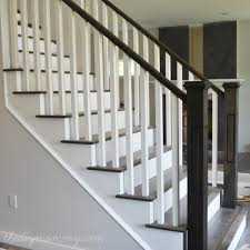 How To Refinish A Wood Banister Craftsman Staircase Transitional Staircase Houston