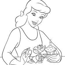disney princess cinderella coloring pages cartoon printable