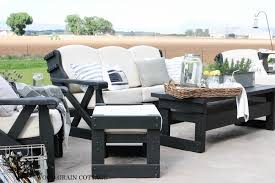 Outdoor Porch Furniture by Outdoor Patio Furniture Makeover The Wood Grain Cottage