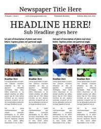 newspaper template for word newspaper template newsletter