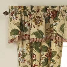 Burgundy Curtains With Valance Themed Window Valances Waverly Window Valances Burgundy