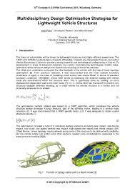 multidisciplinary design optimisation strategies for lightweight vehi u2026