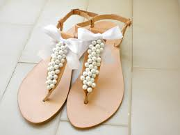 schuhe f r hochzeit wedding sandals leather sandals decorated with white pearls