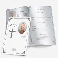 make your own funeral program traditional cross funeral phlets