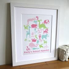 personalised children u0027s animal art print by letterfest