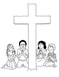 cross coloring pages getcoloringpages com