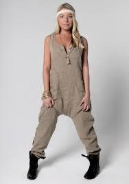 khaki jumpsuit 100 linen drop crotch jumpsuit in khaki shop claudio basic