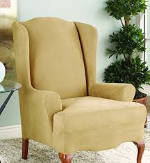 Wing Chair Cover Sure Fit Chair Covers Amazon Com