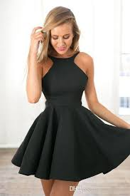 black dresses black 2017 homecoming dresses cheap halter backless a