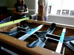 quarter size pool table coin operated pool table tracks with slate off youtube