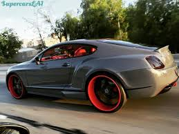 red bentley bentley continental gt speed gray edition red and black and grey