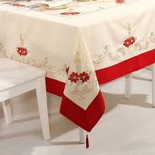 christmas table linens sale party embroidery tablecloth christmas tablecloth table runner