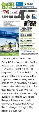 Challenge Purpose Administratedby 947 Cycle Telkom Challenge Ride For A Purpose Pets