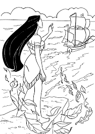 pocahontas call the ship pocahontas coloring pages pinterest