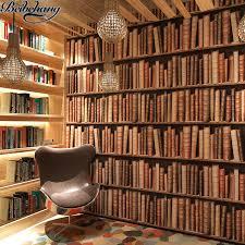 wallpaper that looks like bookshelves beibehang bookshelf wallpaper 3d stereo chinese wall wallpaper
