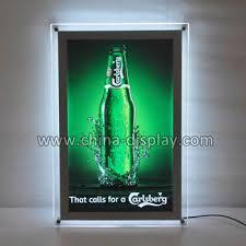 led picture frame light display led backlit picture frame a1 led crystal frame light box
