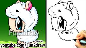 mei yu fun2draw how to draw cute animals cartoon sheep