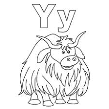 super idea letter y coloring pages learn alphabet letter y
