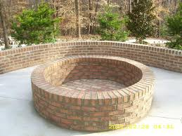 Firepit Brick Brick Pit This Would Be Beautiful To This In A Back