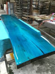 epoxy table top resin tabletop from elm with transparent epoxy colour resin designed by