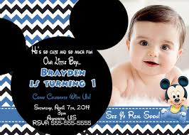 baby mickey 1st birthday invitations partyexpressinvitations