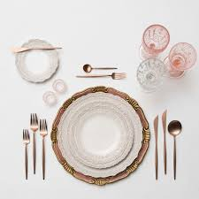 gold flatware rental gold copper casa de perrin