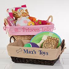 personalized basket personalized dog baskets pet gifts