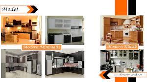 kitchen set minimalis modern daftar harga kitchen set minimalis murah modern klik ya