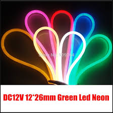 cheap led light strips 10m lot green led neon flex for outdoor light solution dc12v neon