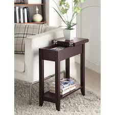 rosewood tall end table coffee brown american heritage flip top tall side table multiple colors