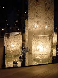Diy Lantern Centerpiece Weddingbee by Diy Divas Centerpieces And Lighting Lace Wrap Glass Candle And