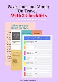 travel checklist images Travel checklists for saving time and money on travel png