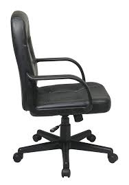 White Mesh Desk Chair by Amazon Com Office Star Mid Back Padded Seat And Back Eco Leather