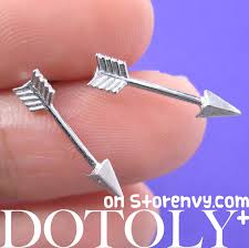 feather stud earrings dotoly plus small arrow feather arrowhead stud earrings in